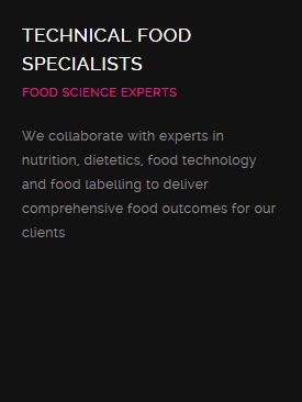 Technical Food Specialists